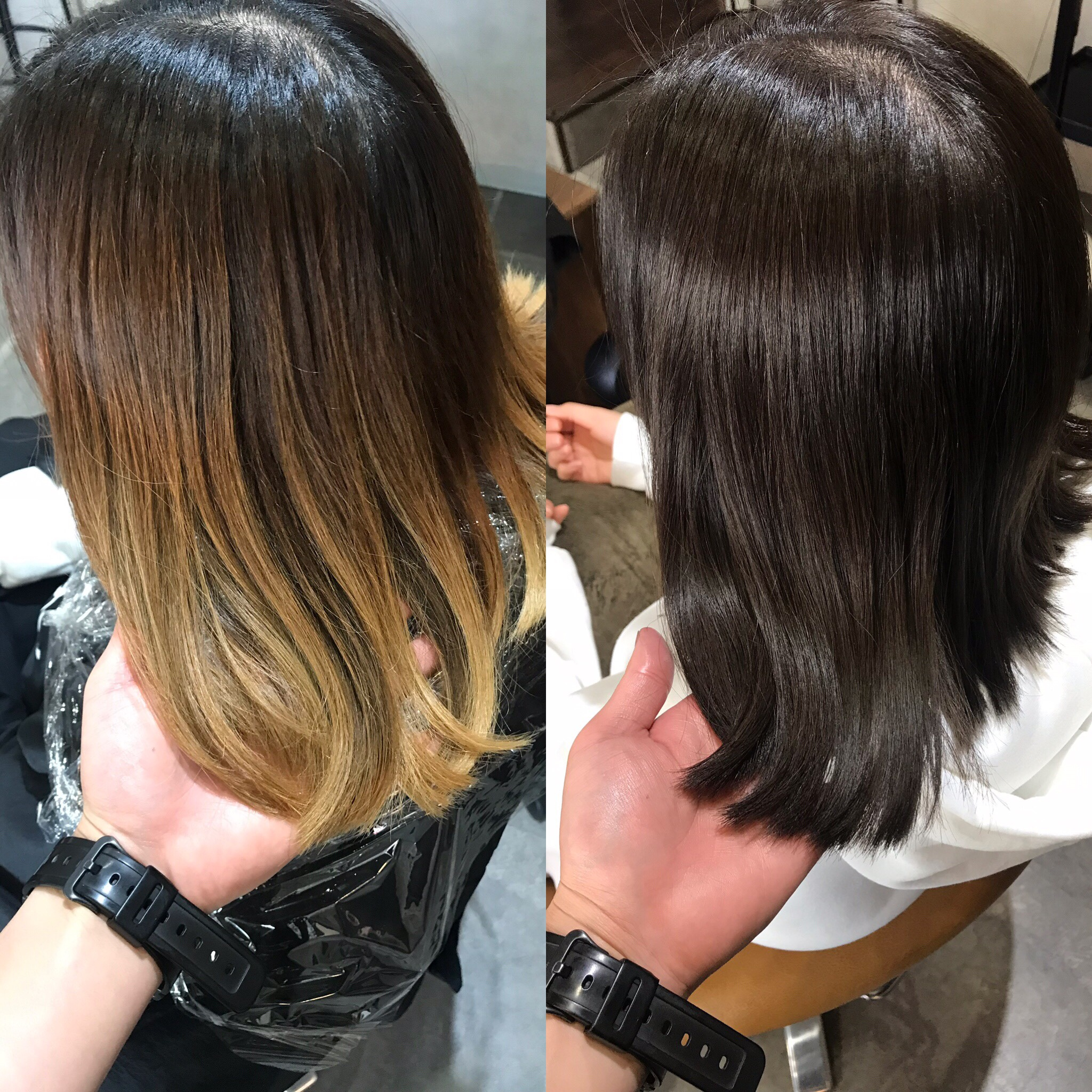 ベース 黒髪 グラデーション カラー